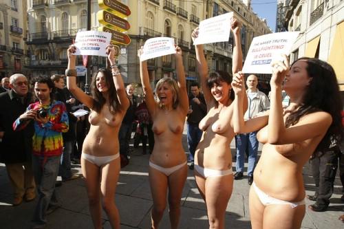 Protesta contra la crueldad taurina