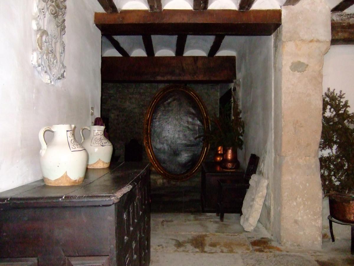 El interior de una de los palacios más viejos de Salvatierra, la casa de XXX