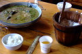 What about this? The best fish soup EVER. Mark the wooden rice-bucket.