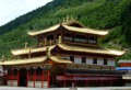 Chuan Zu Shi Zhen temple. Tibetans are extremely superstitious-religious.