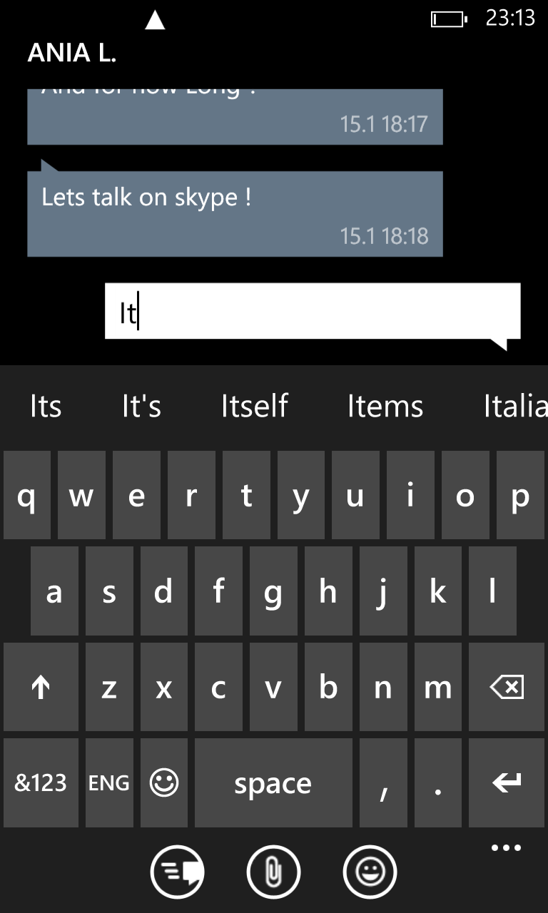 Keyboard in predictive text mode takes 80% screen.