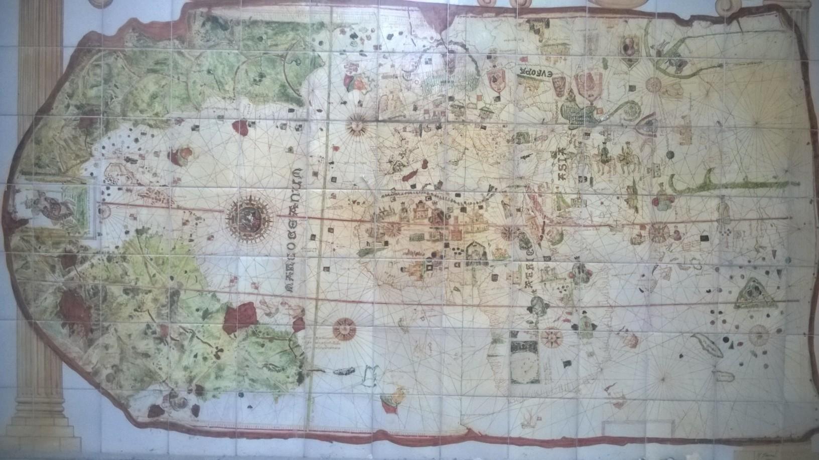 Primer mapa cartográfico que incluía América, por Juan de la Cosa
