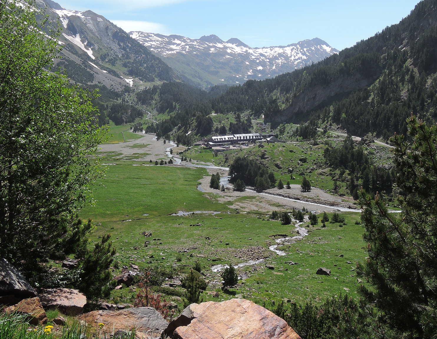 Valle pirenaico en Huesca.