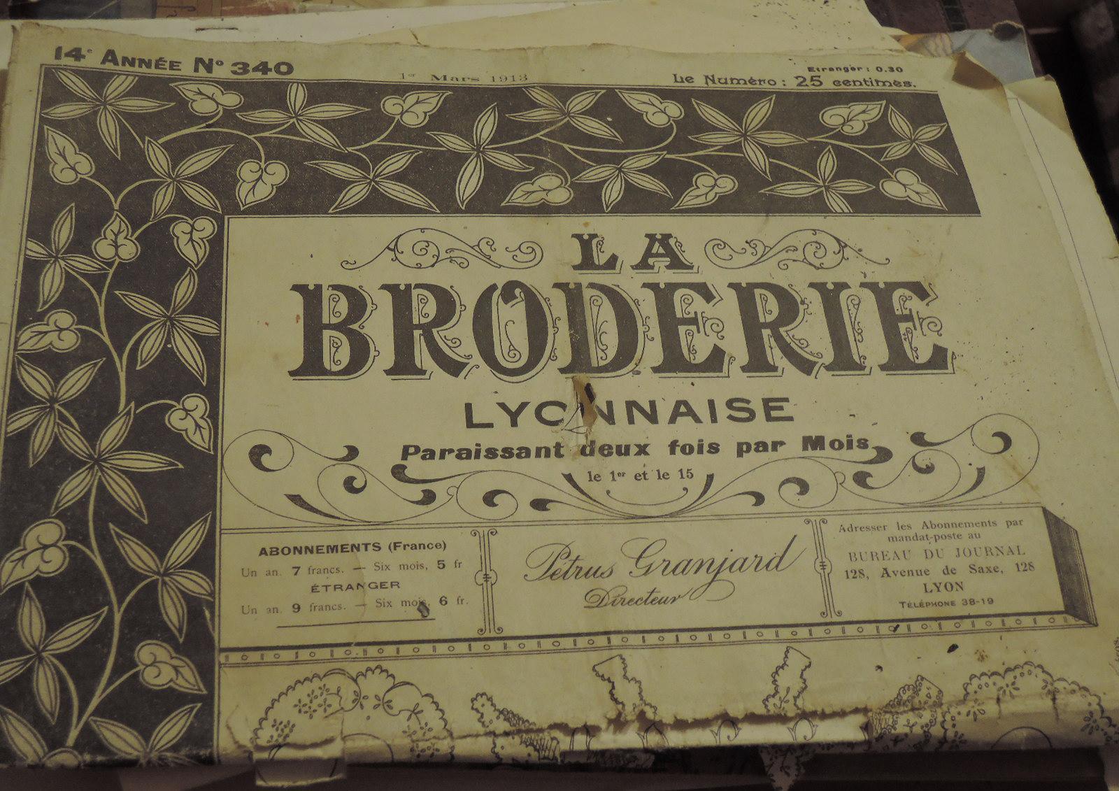La Broderie, editado en 1918.