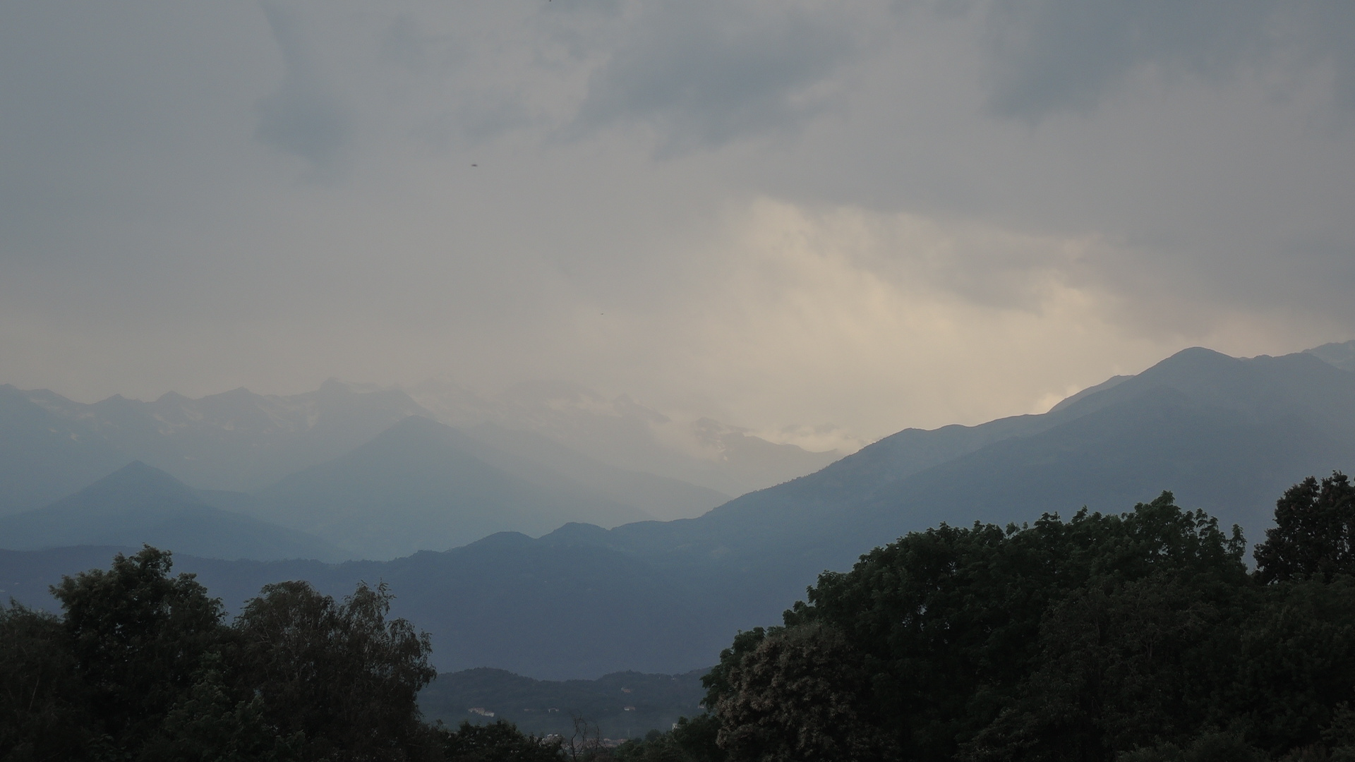 Tormenta en los Alpes.
