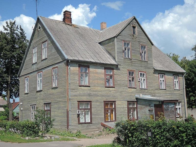 Una de esas magníficas casas lituanas. Birzai.