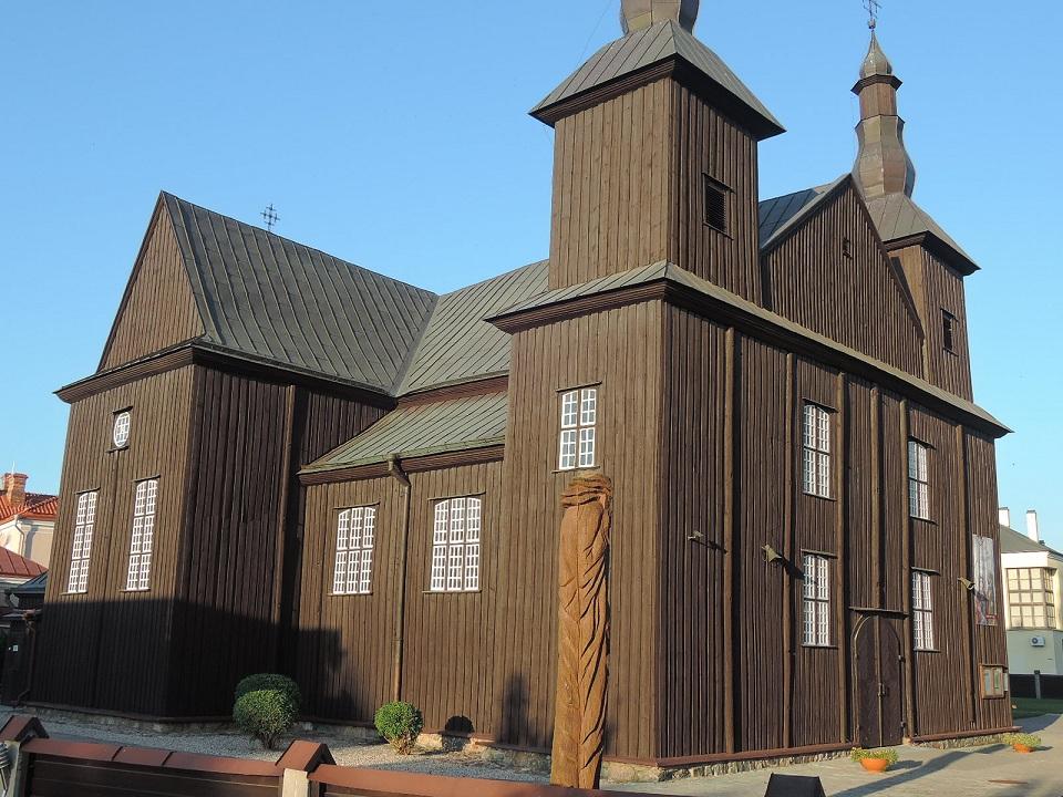 Soberbia iglesia de madera de los Carmelitas. Kedainiai.
