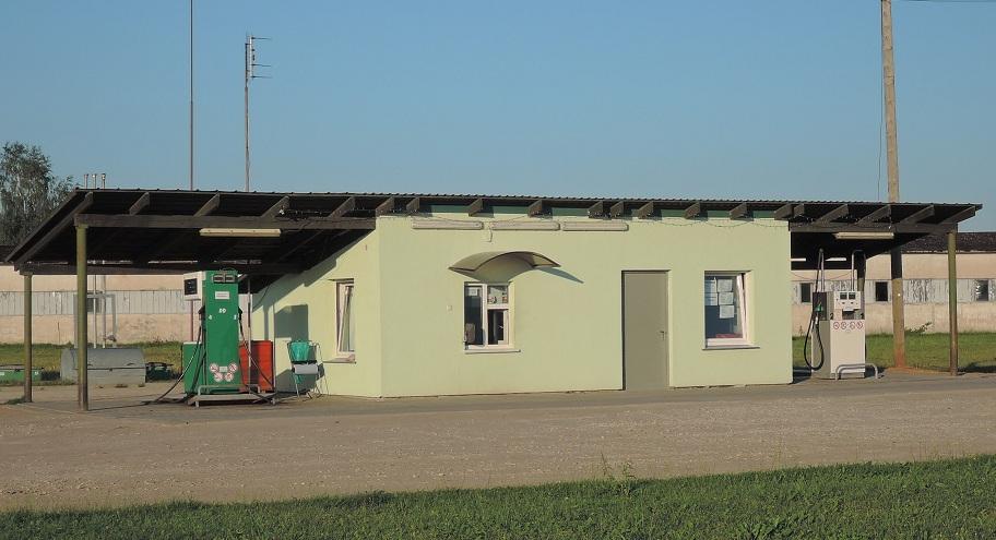 Típica gasolinera lituana.