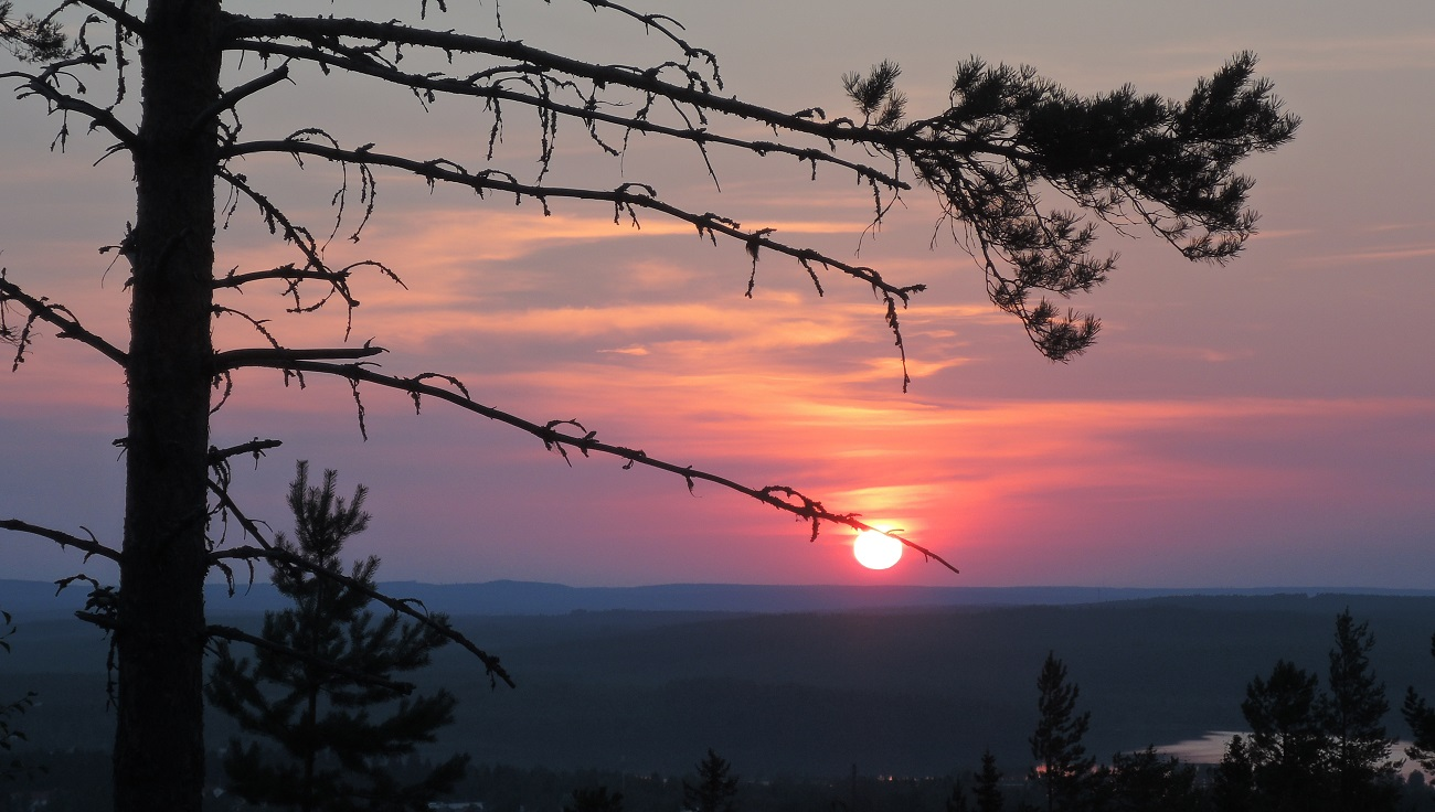 Puesta de sol desde Saukkovaara