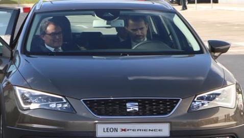 El rey de España haciendo publicidad de la casa Seat