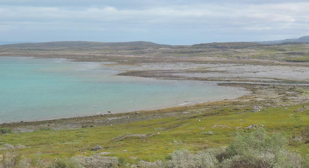 Extensas marismas que descubre la bajamar en el Ártico