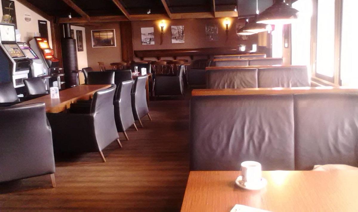 El salón del Hotel Inari, hoy