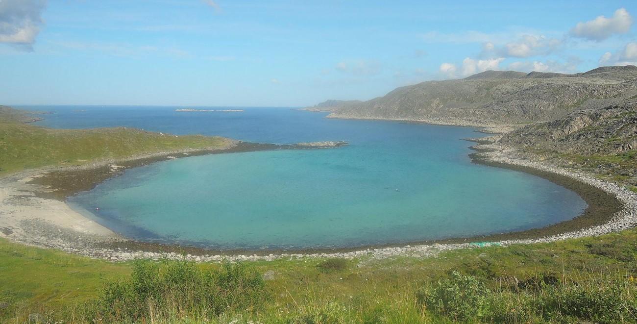 Fascinante golfo en la costa norte de Nordkinn