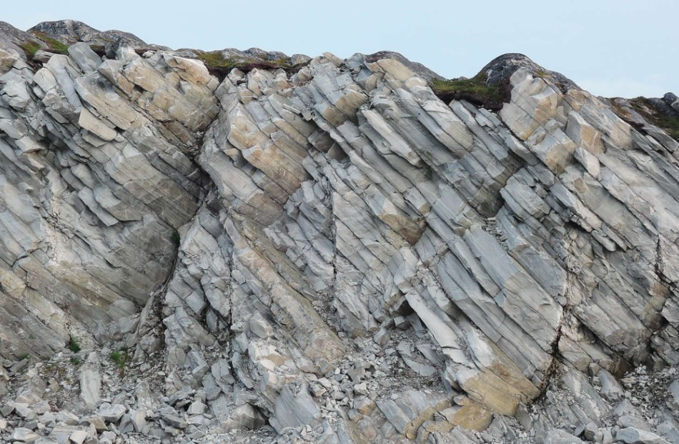 Estructura geológica en el norte de Nordkinn
