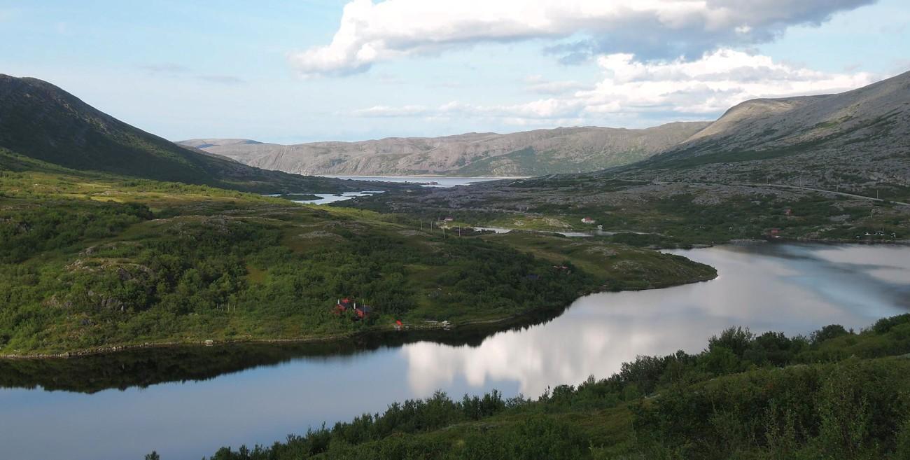 Espléndida vista entre Mehamn y Kjolle