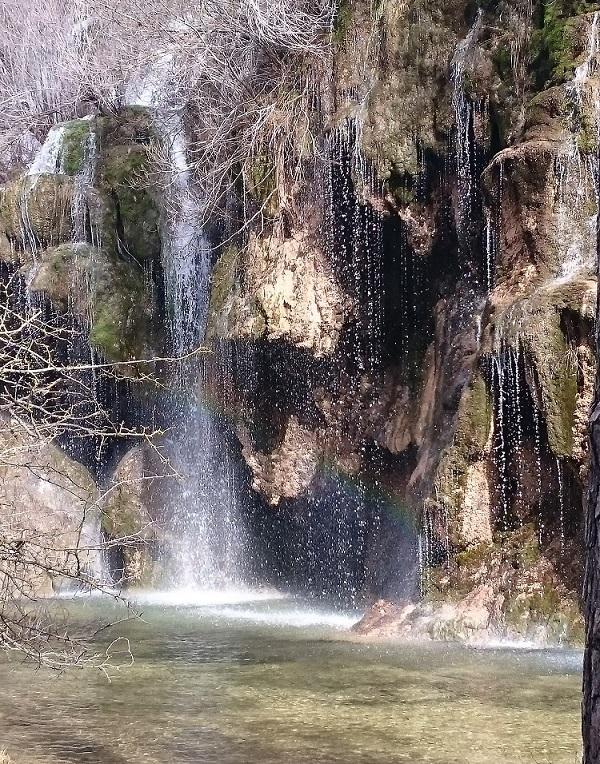 Detalle de las pequeñas cascadas