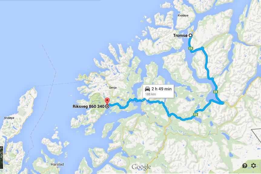 From Tromso to Lofoten via Senja island