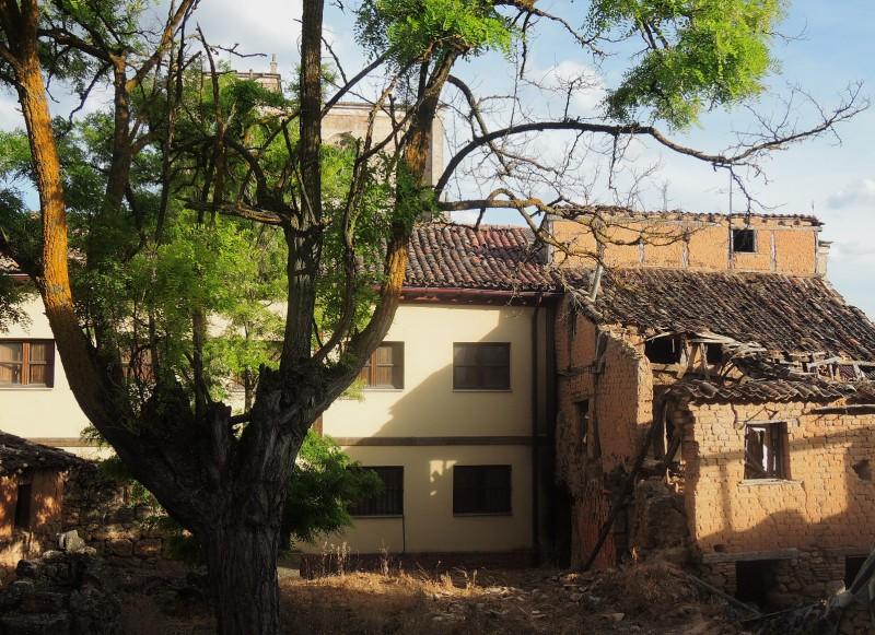 Huerto y casa abandonados