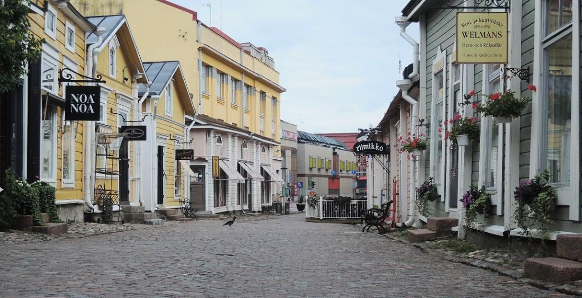 Casas de madera de la 'nueva ciudad'