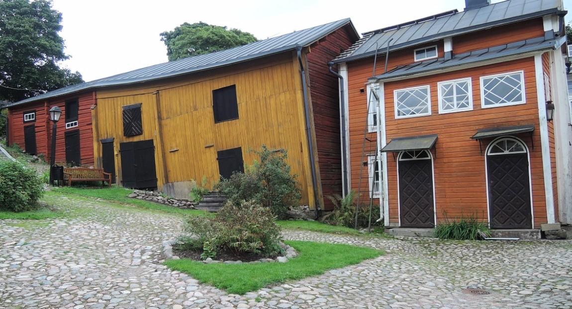 Viejas casas del Porvoo medieval