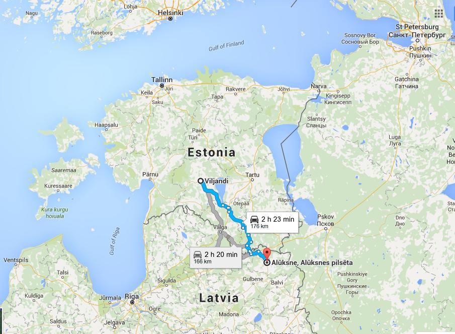 Etapa desde Viljandi hasta Alüksne