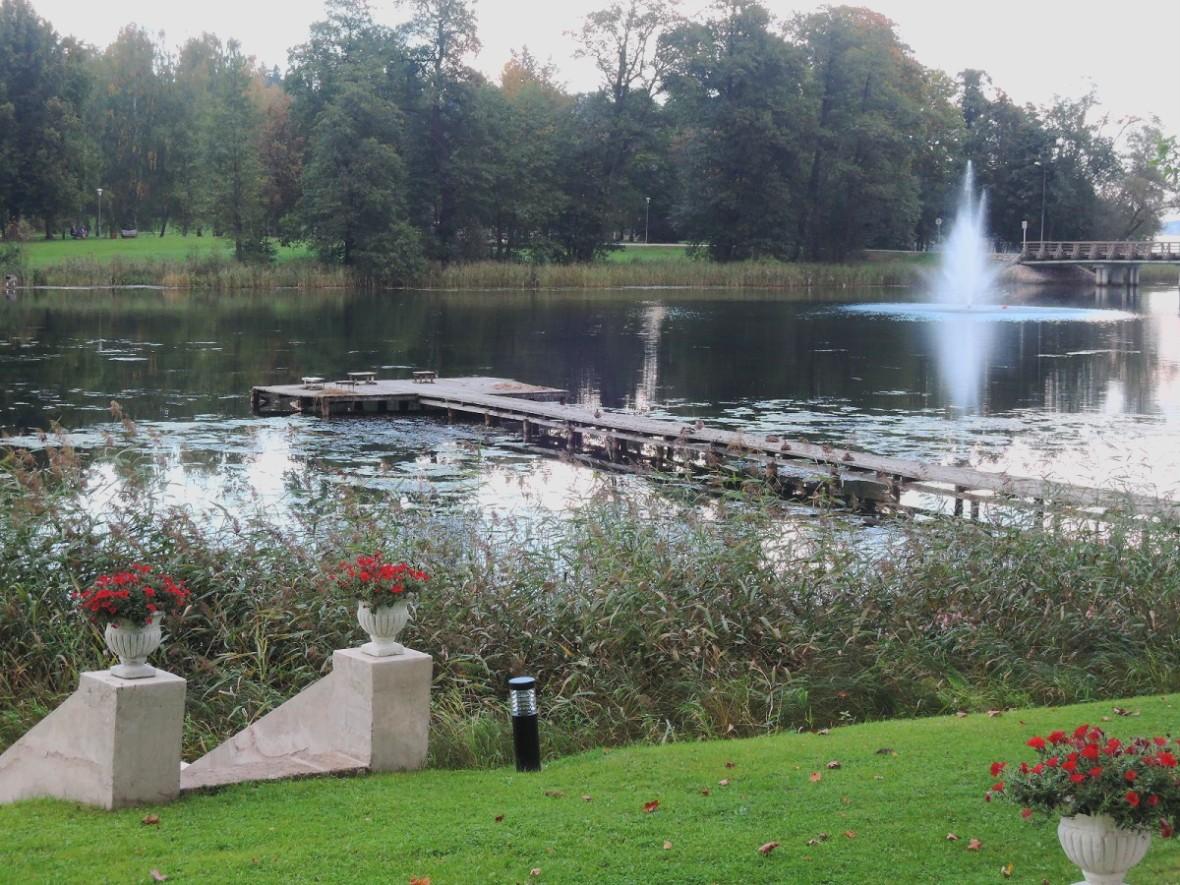 Una parte del parque de Alüksne