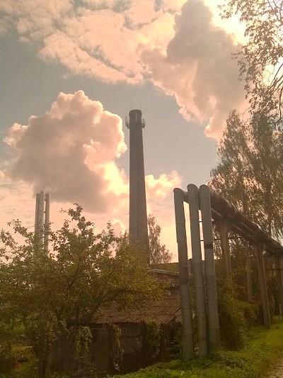 Vieja fábrica en Rezekne
