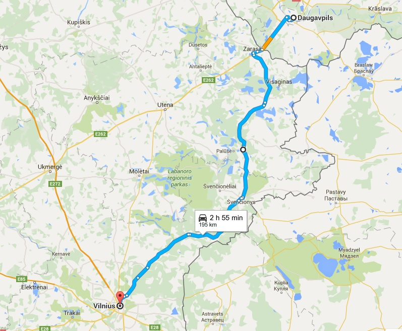 De Daugavpils a Vilnius: la ruta del pánico