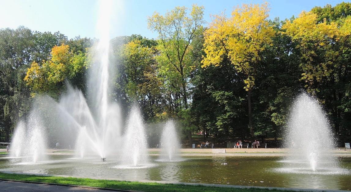 Los elegantes jardines del parque viejo, Bialystok