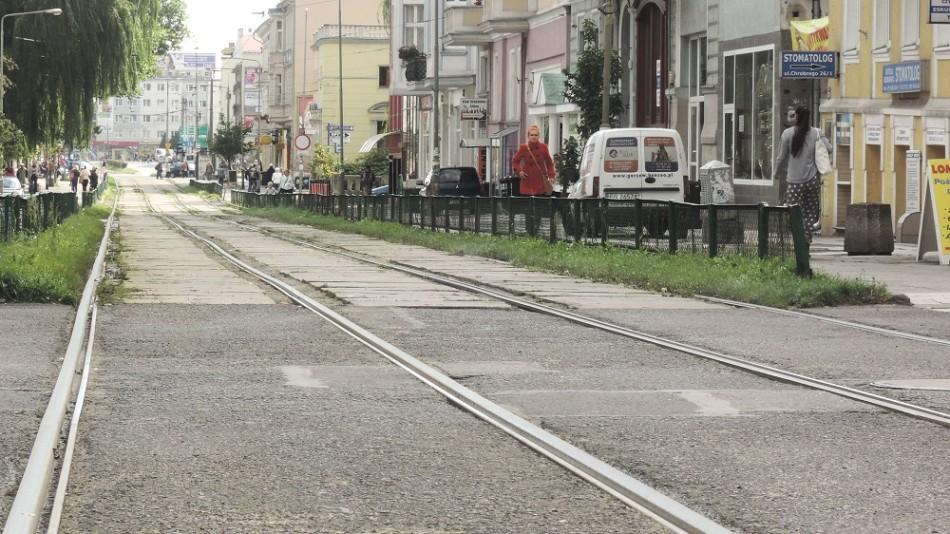 Una de las calles centrales de Gorzów