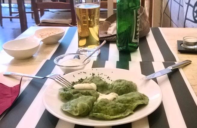 Pierogi con espinacas, uno de mis platos favoritos