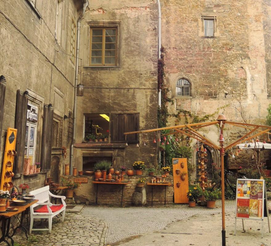 Un romántico patio interior en Herzberg
