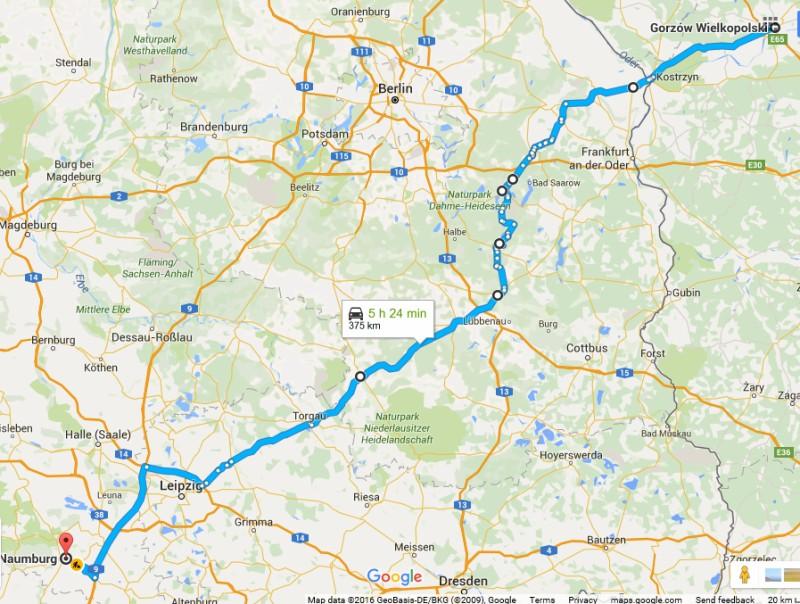 De Gorzów a Naumburg pasando por Herzberg