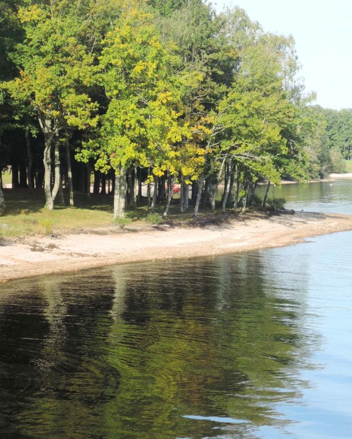 Las orillas del lago La Maude