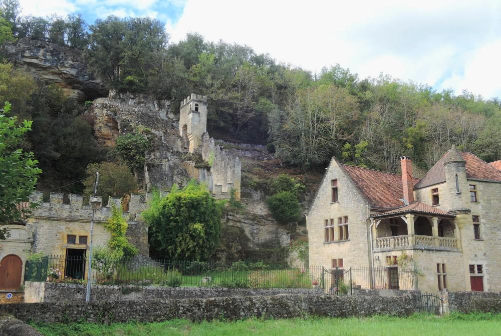 Palacete con jardín, valle del Vézière