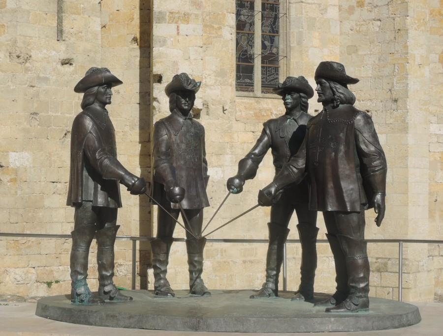 D'Artagnan y los tres mosqueteros en el corazón de Gascuña