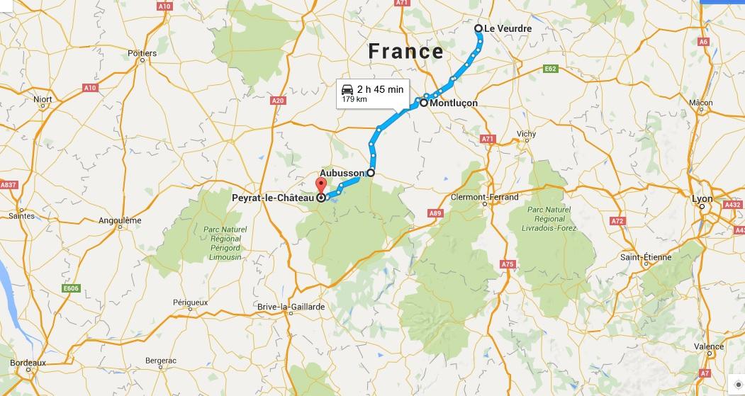 De Le Veurdre a Peyrat-le-Château